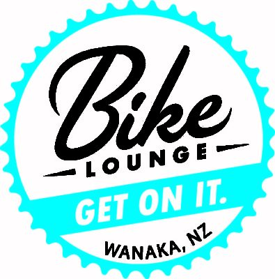 Bike Lounge COG and GET ON IT logo white